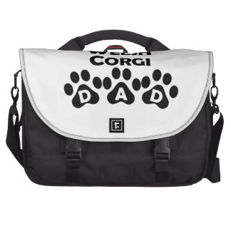 Pembroke Welsh Corgi Dad Laptop Bags