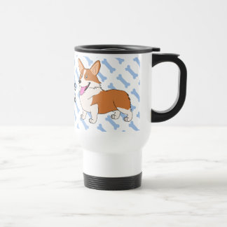Pembroke Welsh Corgi Dad 15 Oz Stainless Steel Travel Mug