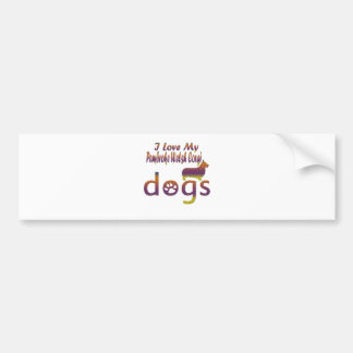 Pembroke welsh corgi designs bumper sticker
