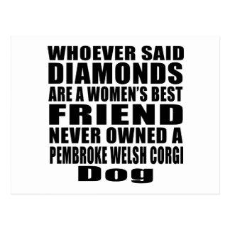 PEMBROKE WELSH CORGI DOG BEST FRIEND DESIGNS POSTCARD