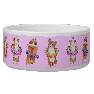 Pembroke Welsh Corgi Dog Bowl Ballerina