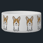 "Pembroke Welsh Corgi Dog Cartoon Bowl<br><div class=""desc"">Pembroke Welsh Corgi. Design by DogBreedCartoon</div>"