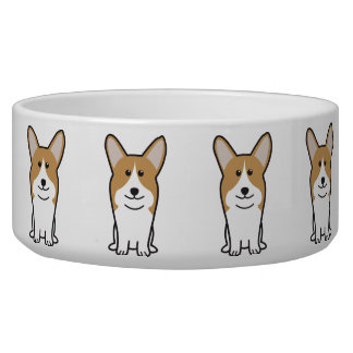 Pembroke Welsh Corgi Dog Cartoon Bowl