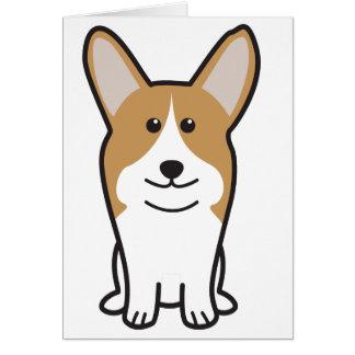 Pembroke Welsh Corgi Dog Cartoon Card