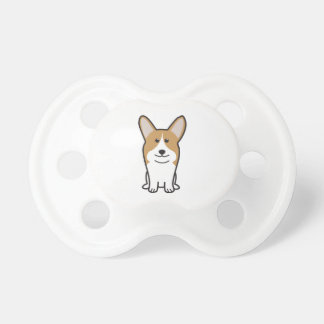 Pembroke Welsh Corgi Dog Cartoon Pacifier