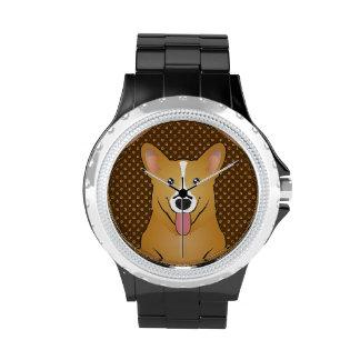 Pembroke Welsh Corgi Dog Cartoon Paws Wristwatch