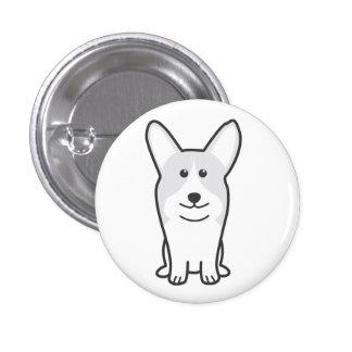 Pembroke Welsh Corgi Dog Cartoon Pinback Button