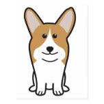 Pembroke Welsh Corgi Dog Cartoon Postcard