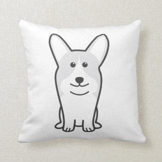 Pembroke Welsh Corgi Dog Cartoon Throw Pillow