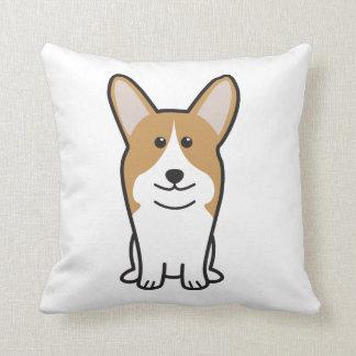 Pembroke Welsh Corgi Dog Cartoon Throw Pillows