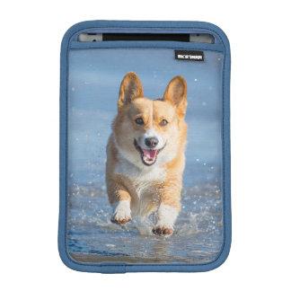 Pembroke Welsh Corgi Dog Running On The Beach iPad Mini Sleeve