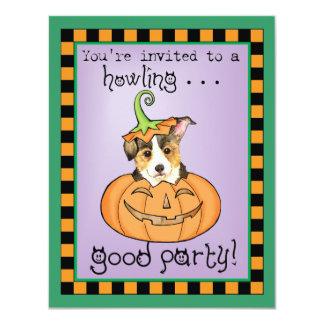 Pembroke Welsh Corgi Halloween Card