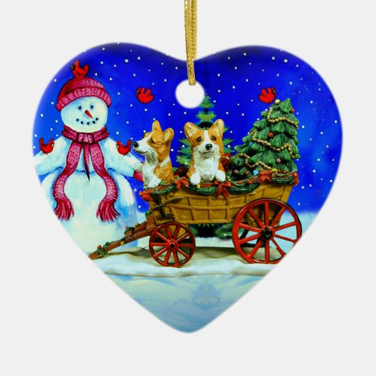 Pembroke Welsh Corgi Heart Ornament