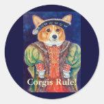 Pembroke Welsh Corgi KING Stickers
