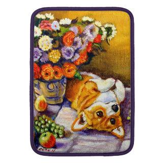 Pembroke Welsh Corgi MacBook Sleeve floral