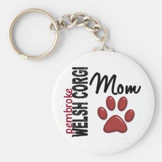 Pembroke Welsh Corgi Mom 2 Key Chains