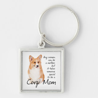 Pembroke Welsh Corgi Mom Keychain