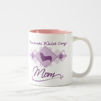 Pembroke Welsh Corgi Mom Two-Tone Coffee Mug