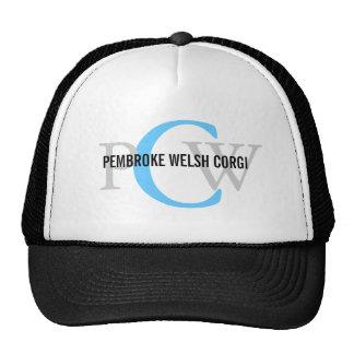Pembroke Welsh Corgi Monogram Design Trucker Hat