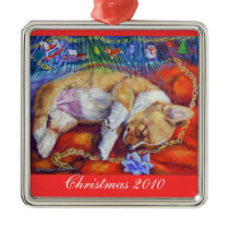Pembroke Welsh Corgi Ornament Square Premium