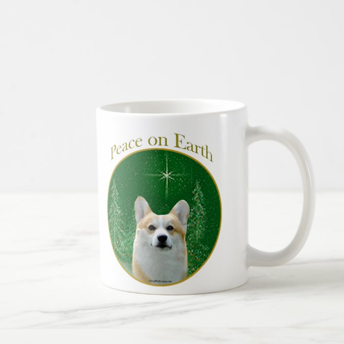 Pembroke Welsh Corgi Peace Coffee Mug