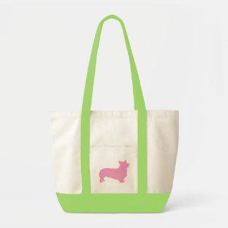 Pembroke Welsh Corgi pink Canvas Bags