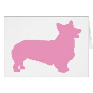 Pembroke Welsh Corgi pink Card