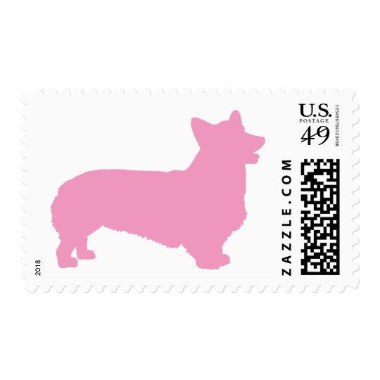 Pembroke Welsh Corgi (pink) Postage