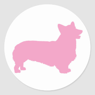 Pembroke Welsh Corgi pink Stickers