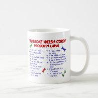 PEMBROKE WELSH CORGI PL2 COFFEE MUGS