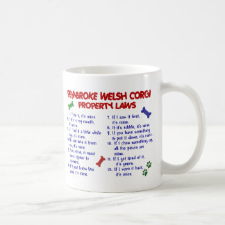 PEMBROKE WELSH CORGI PL2 CLASSIC WHITE COFFEE MUG