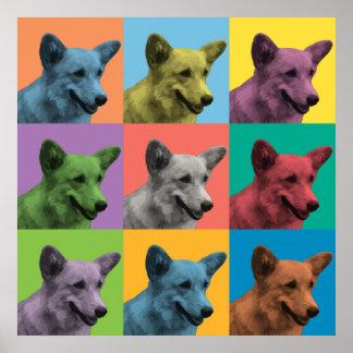 Pembroke Welsh Corgi Pop-Art Poster