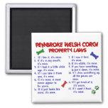 PEMBROKE WELSH CORGI Property Laws 2 2 Inch Square Magnet