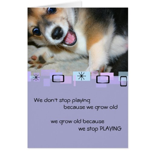 Pembroke Welsh Corgi Puppy Birthday Greeting Card