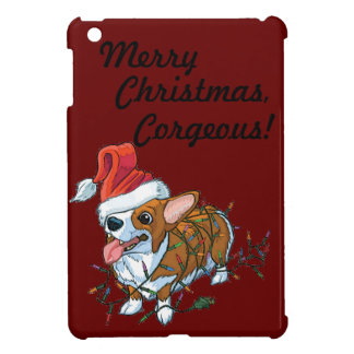 Pembroke Welsh Corgi Puppy Christmas Xmas Lights Cover For The iPad Mini