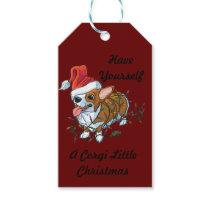 Pembroke Welsh Corgi Puppy Christmas Xmas Lights Gift Tags