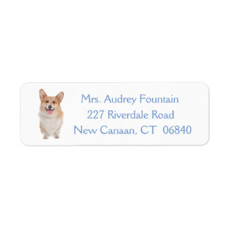 Pembroke Welsh Corgi Puppy Dog Label