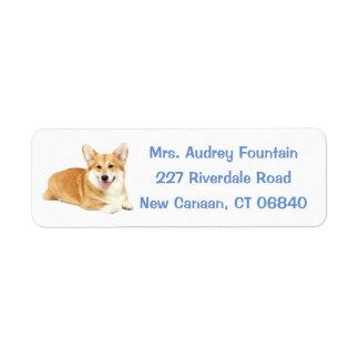 Pembroke Welsh Corgi Puppy Dog Label