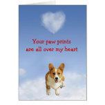 Pembroke Welsh Corgi Puppy Love Card