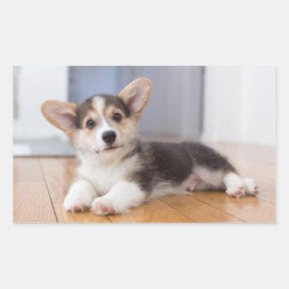 Pembroke Welsh Corgi Puppy Rectangular Sticker