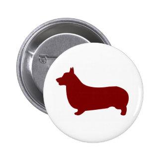 Pembroke Welsh Corgi (Red) Button
