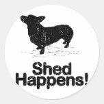 Pembroke Welsh Corgi Round Stickers