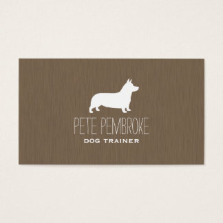 Pembroke Welsh Corgi Silhouette Business Card