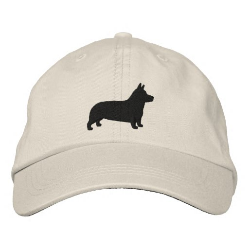 Pembroke Welsh Corgi Silhouette Embroidered Baseball Cap  2212093895f