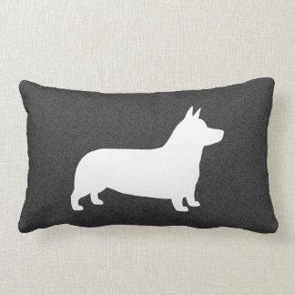 Pembroke Welsh Corgi Silhouette Throw Pillow