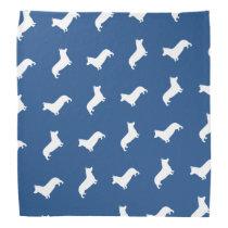 Pembroke Welsh Corgi Silhouettes Pattern Bandana