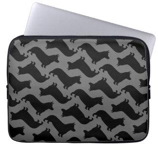 Pembroke Welsh Corgi Silhouettes Pattern Computer Sleeve