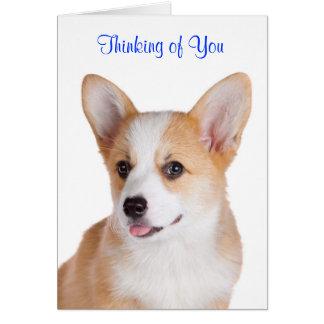 Pembroke Welsh Corgi Thinking Of You Greeting Card