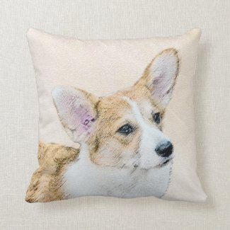 Pembroke Welsh Corgi Throw Pillow