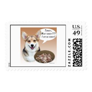 Pembroke Welsh Corgi Turkey Postage Stamp